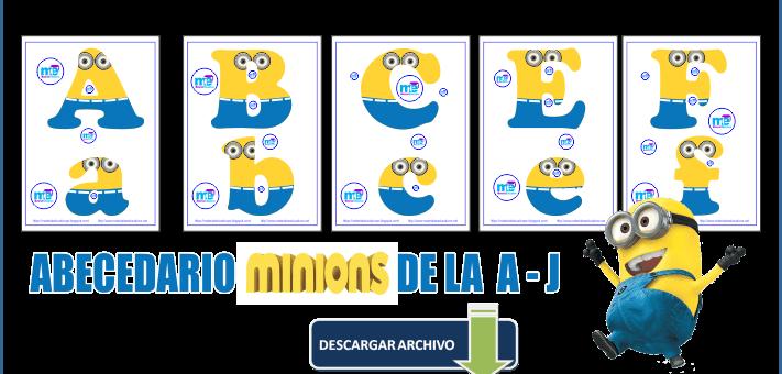 LETRAS ABC MINIONS DE LA  A – J