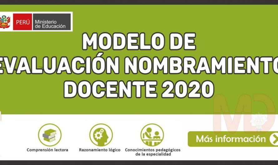 Modelo de Evaluación Nombramiento Docente 2020