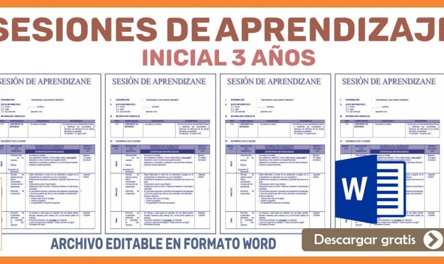 SESIONES DE APRENDIZAJE INICIAL 3 AÑOS EN WORD