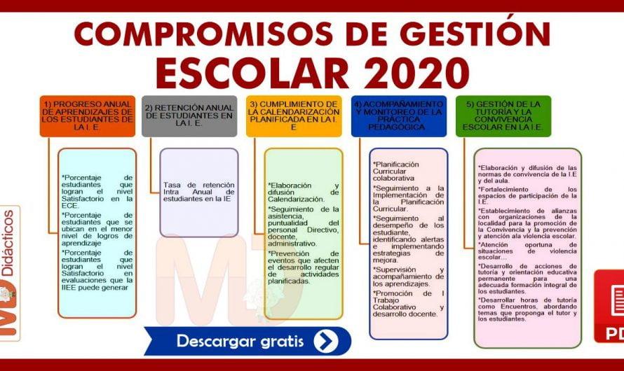 COMPROMISOS DE GESTIÓN ESCOLAR 2020