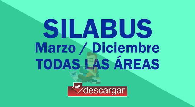 Silabus para Primaria Marzo-Diciembre