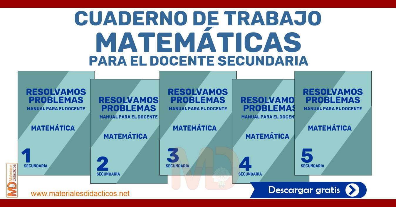 Cuaderno De Trabajo De Matematicas Para El Docente Secundaria