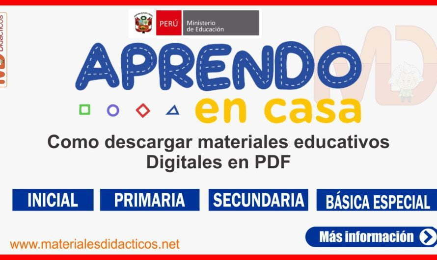 APRENDO EN CASA: Como descargar materiales educativos Digitales 2020