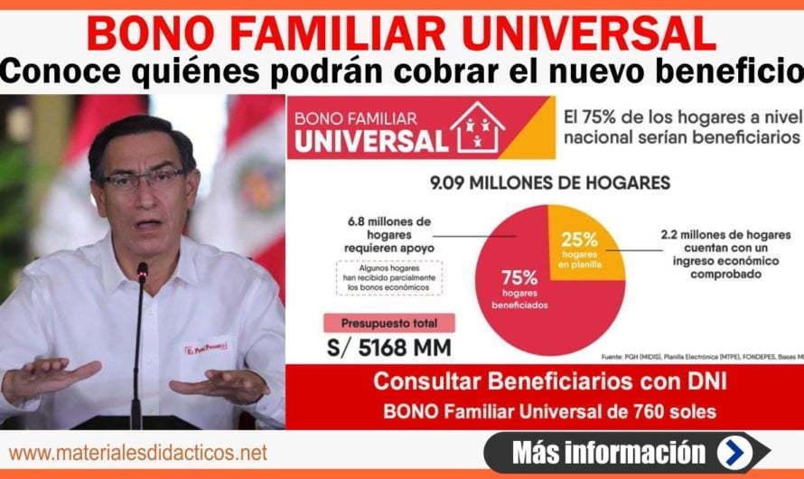 BONO FAMILIAR UNIVERSAL: Conoce quiénes podrán cobrar el nuevo beneficio