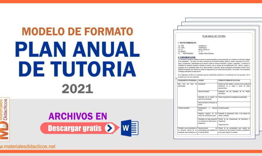 PLAN ANUAL DE TUTORIA 2021